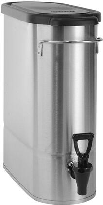 396000065 Oval Style Narrow Low Profile Iced Tea and Coffee Dispenser with 3.5 Gallons Capacity  Lid  Front - Back Handles  Full-Color Iced Tea Decal