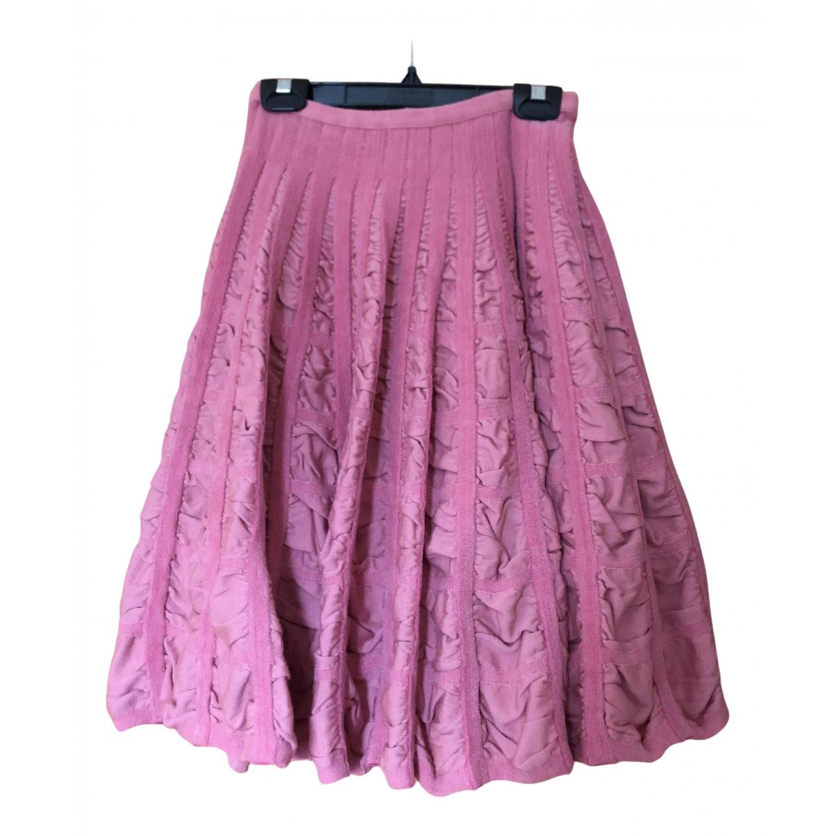 Alaia - Jupe   pour femme en laine - rose