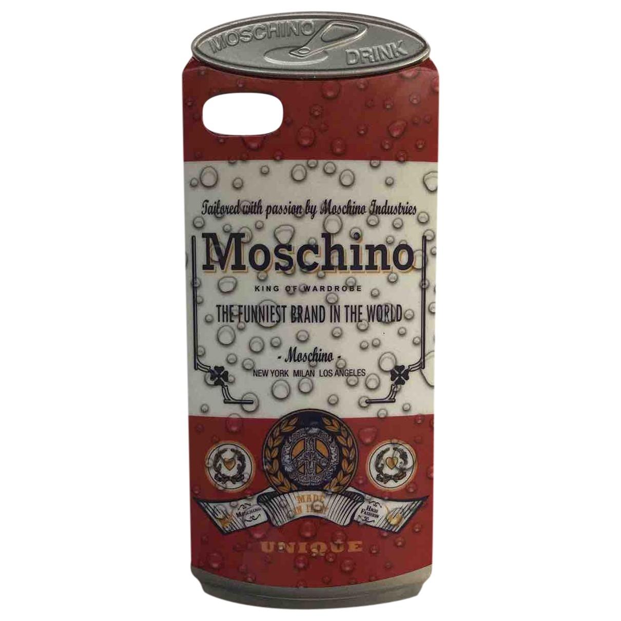 Moschino - Bijoux de portable   pour femme en toile - noir