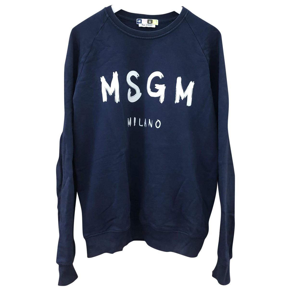 Msgm \N Navy Cotton Knitwear & Sweatshirts for Men M International
