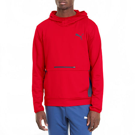 Puma Ready To Go Mens Long Sleeve Hoodie, Medium , Red