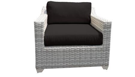 TKC045b-CC-BLACK Club Chair - Beige and Black