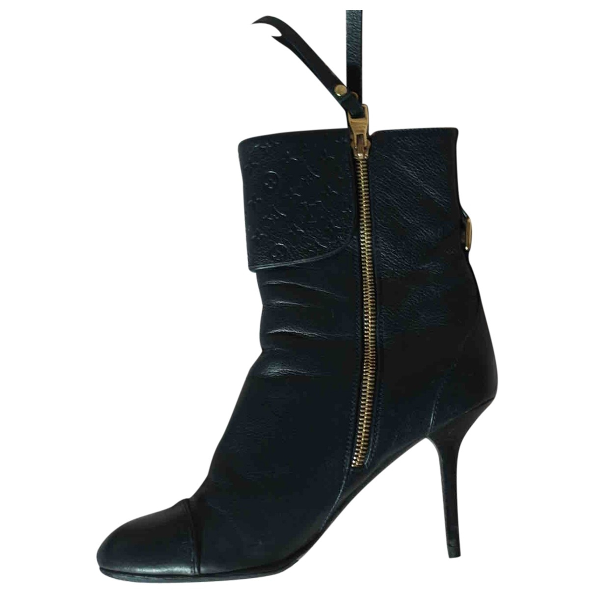 Louis Vuitton \N Blue Leather Boots for Women 37.5 EU