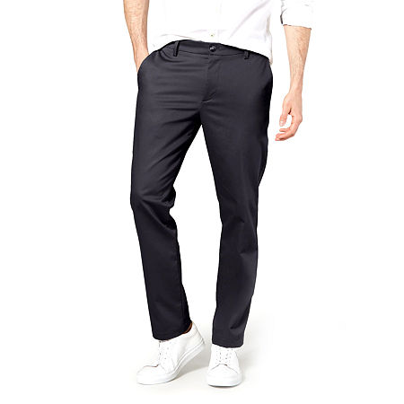 Dockers Men's Slim Fit Signature Khaki Lux Cotton Stretch Pants D1, 28 28, Blue