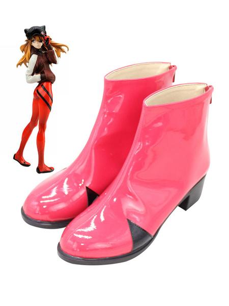 Milanoo New Genesis Evangelion Asuka Langley Soryu Pink Cosplay Shoes