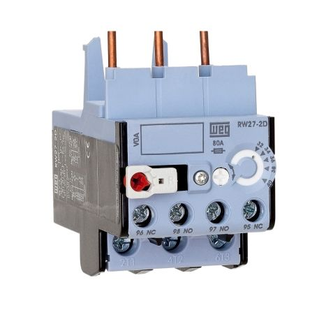 WEG Thermal Overload Relay - NO/NC, 6.3 A F.L.C, 4 → 6.3 A Contact Rating, 0.9 → 1.7 W, 3P