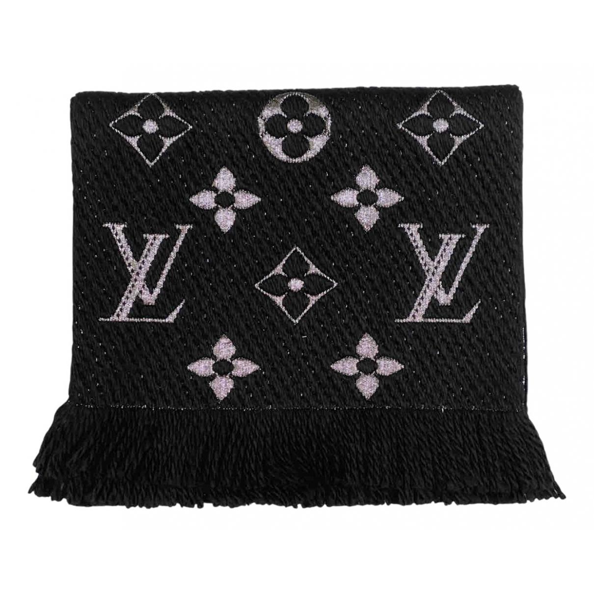 Louis Vuitton Logomania Schal in  Schwarz Wolle