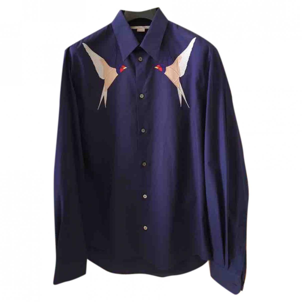 Stella Mccartney \N Blue Cotton Shirts for Men L International