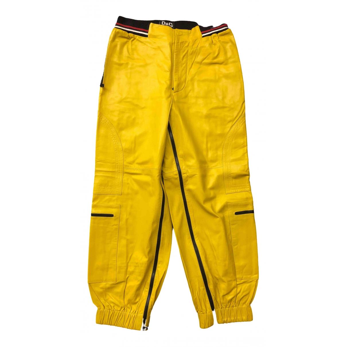 Pantalon de Cuero D&g