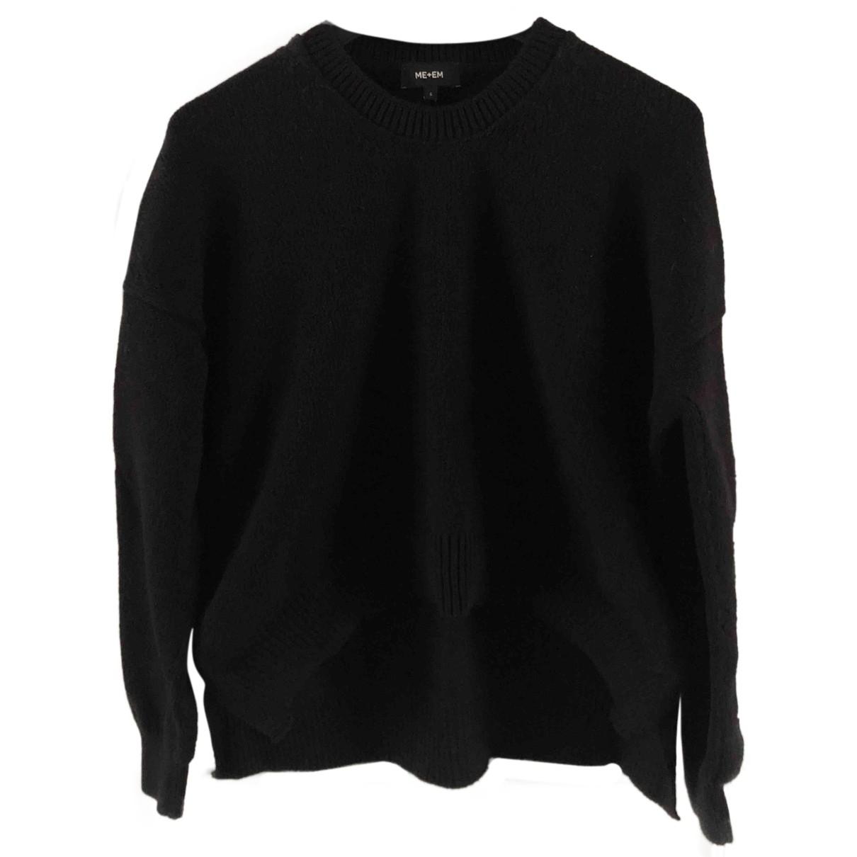 Me+em - Pull   pour femme en coton - noir