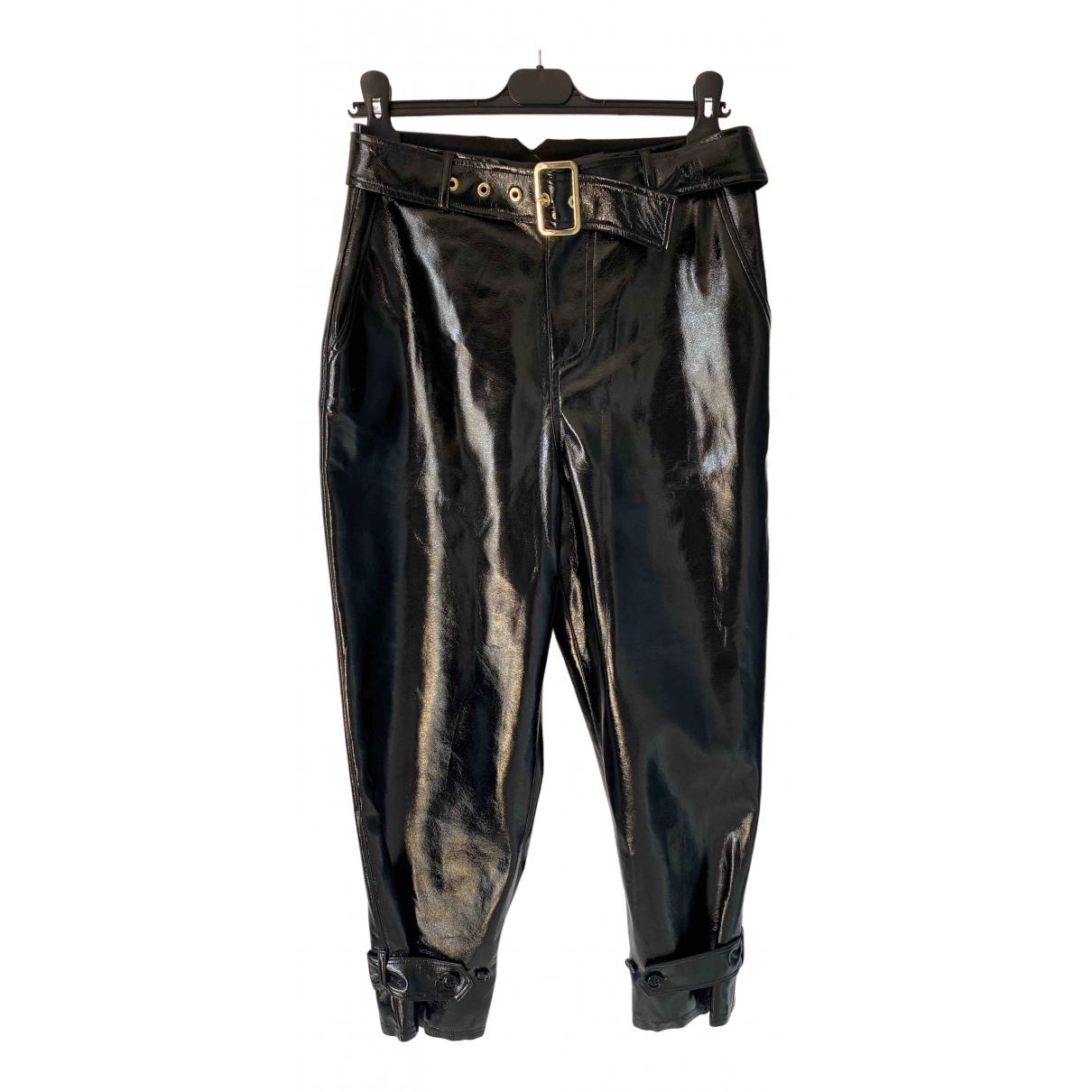 Liu.jo N Black Trousers for Women 42 IT