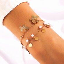 2 Stuecke Armband mit Schmetterling Anhaenger