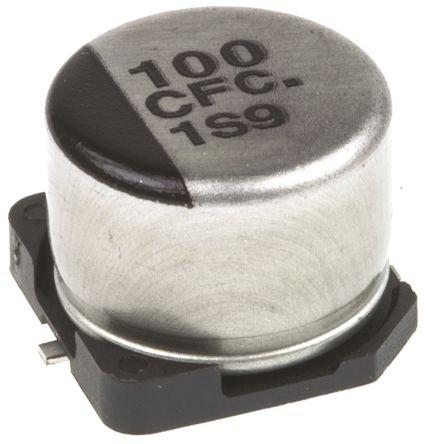 Panasonic 100μF Electrolytic Capacitor 16V dc, Surface Mount - EEEFC1C101P (5)