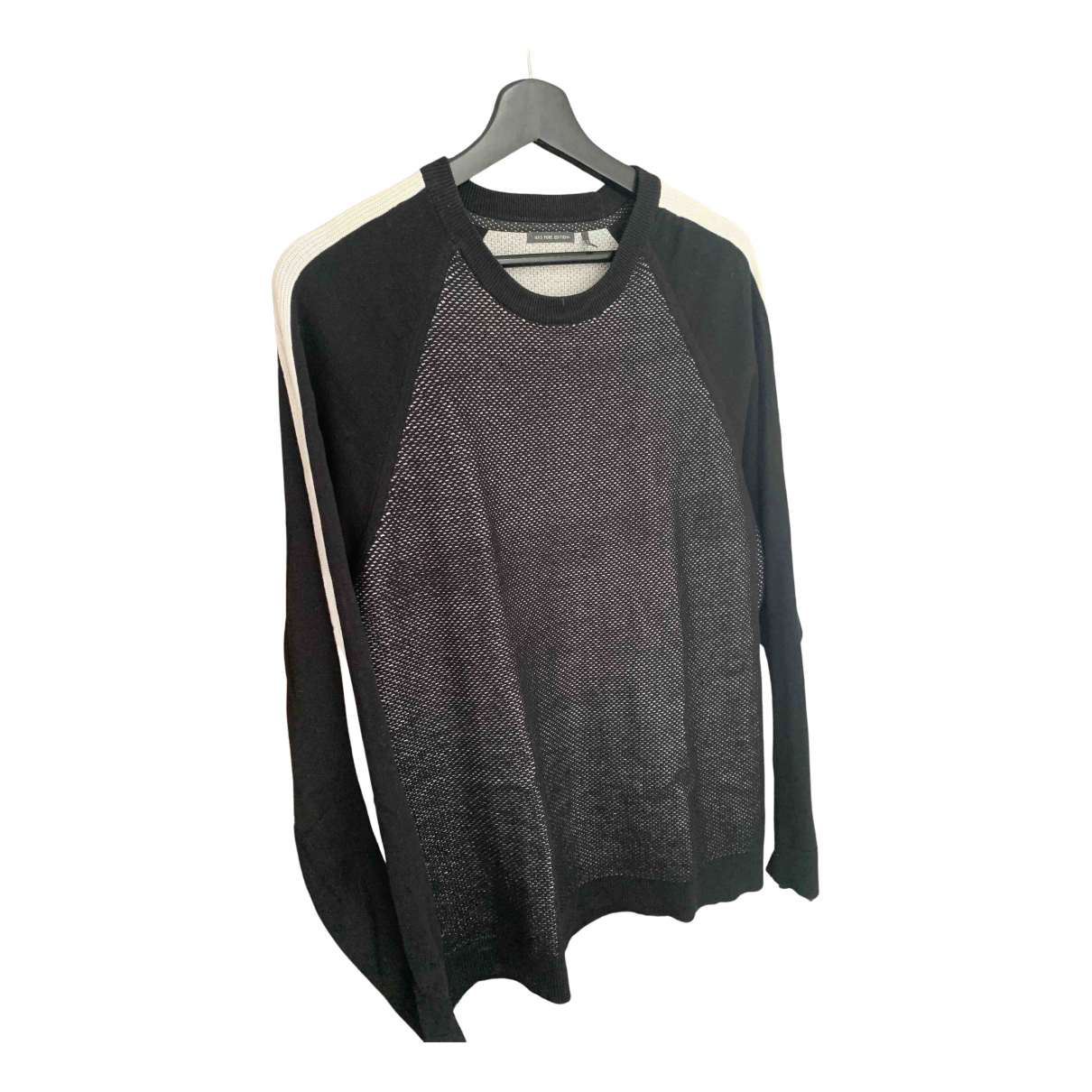 Ikks N Black Cotton Knitwear & Sweatshirts for Men XXL International