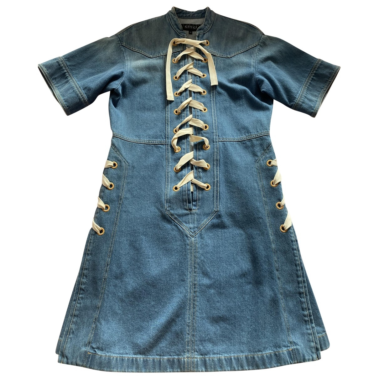 Gucci - Robe   pour femme en denim - bleu