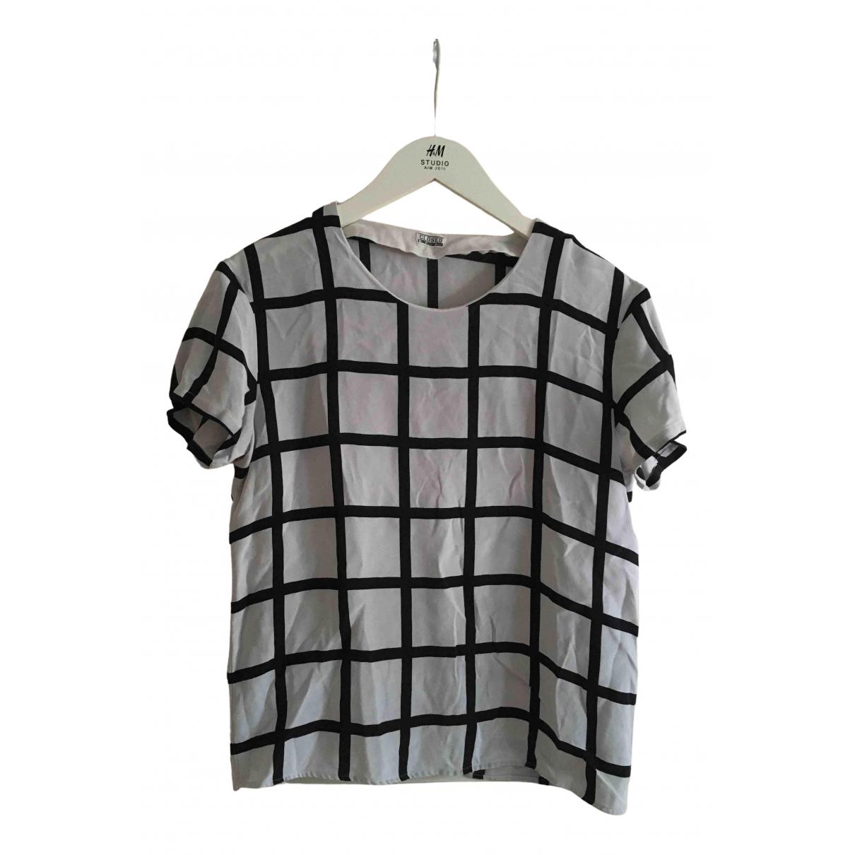 Closed - Top   pour femme en soie - gris