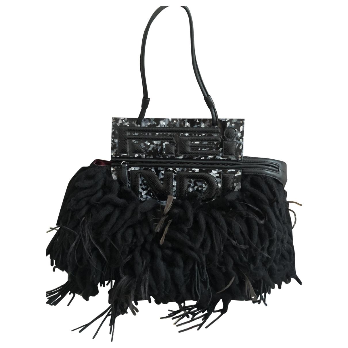 Fendi - Sac a main   pour femme en laine - noir
