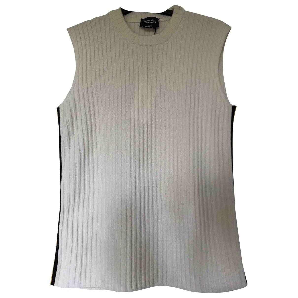 Calvin Klein 205w39nyc N White Wool Knitwear for Women M International