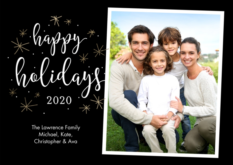 Holiday Photo Cards Flat Glossy Photo Paper Cards with Envelopes, 5x7, Card & Stationery -Holiday 2020 Stars by Tumbalina