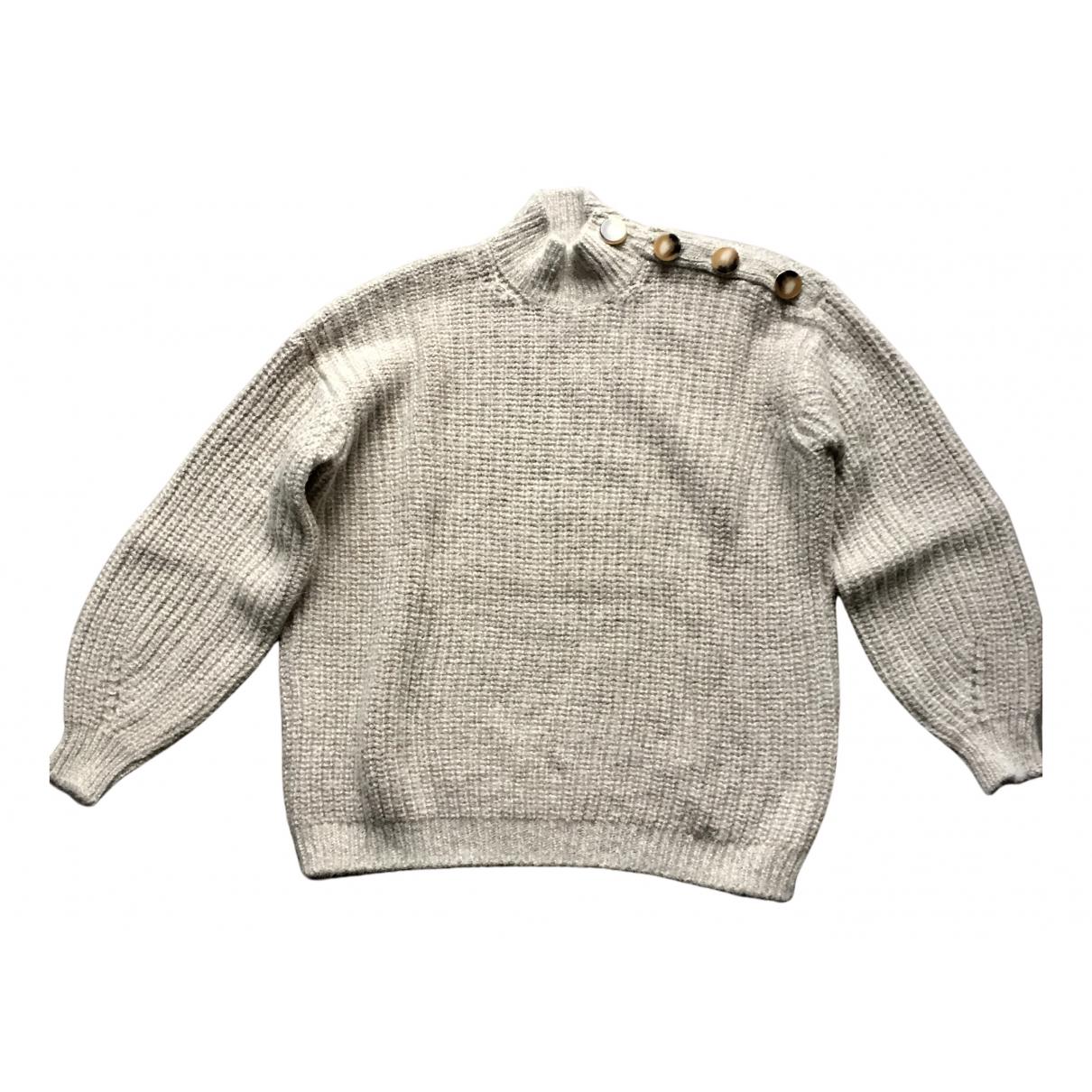 Sezane Fall Winter 2019 Pullover in  Beige Wolle