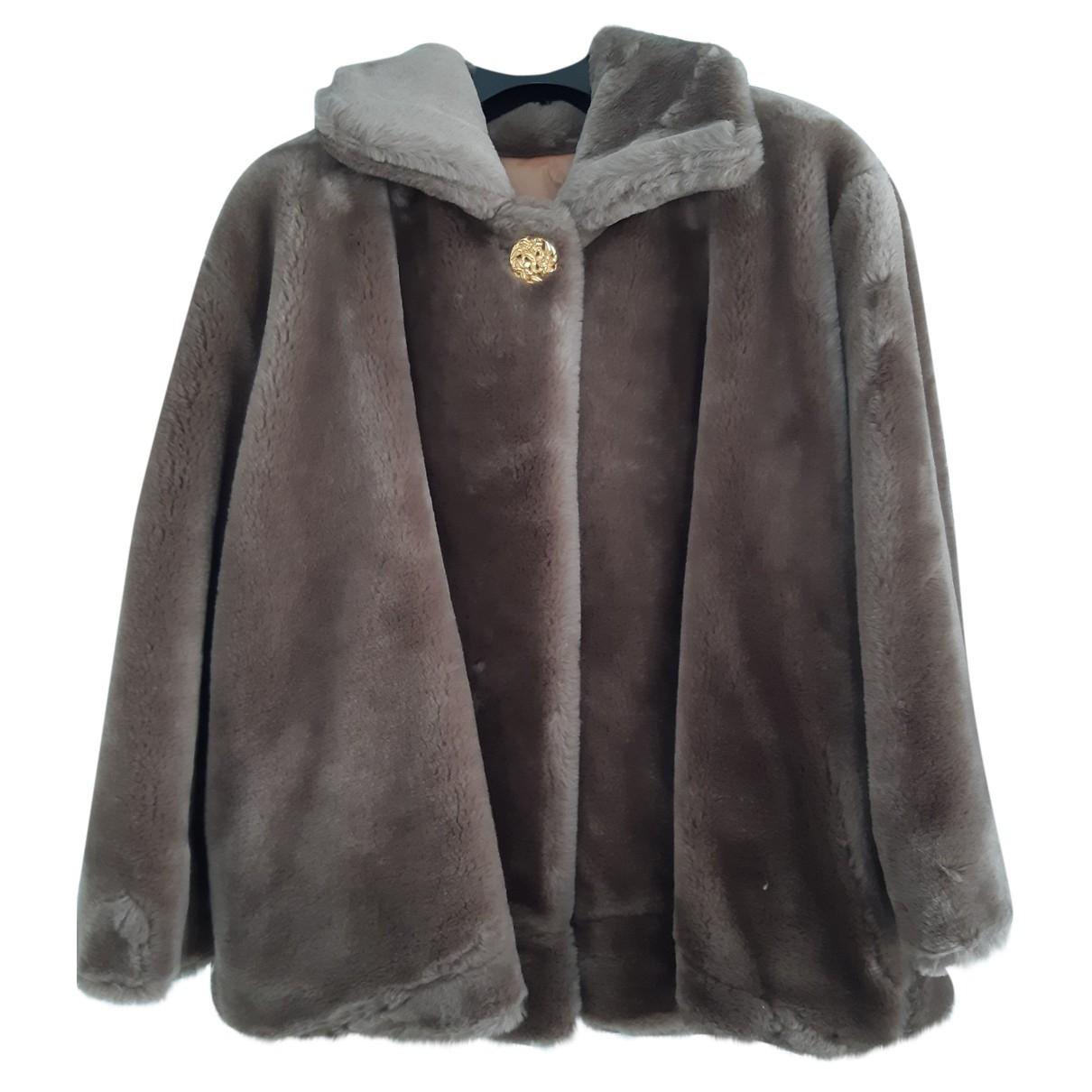 Non Signe / Unsigned Oversize Jacke in Synthetikpelz