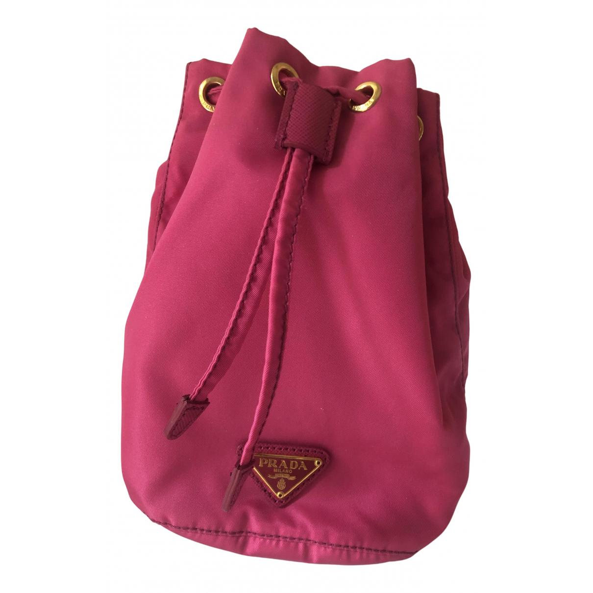 Prada \N Handtasche in  Rosa Leinen
