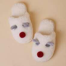 Girls Cartoon Decor Fluffy Slippers