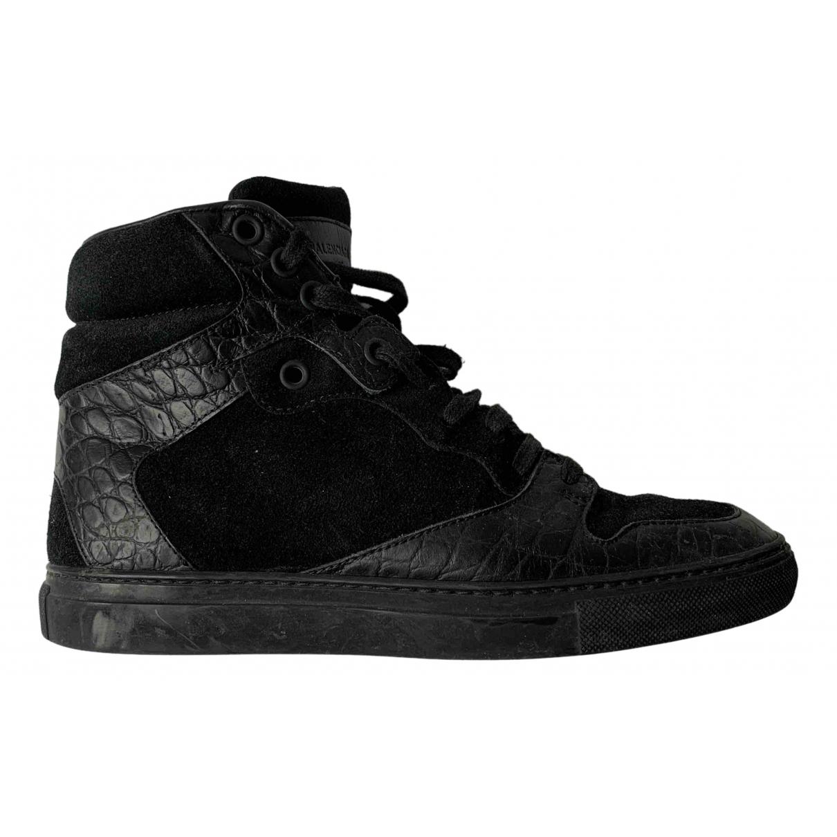 Balenciaga \N Black Leather Trainers for Women 36 EU
