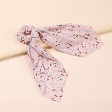 Ditsy Floral Pattern Scrunchie Scarf