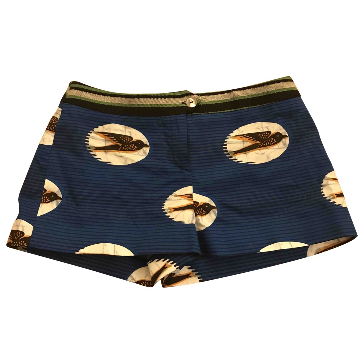 Stella Jean \N Blue Cotton Shorts for Women 40 IT