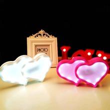1 Stueck Herz formige Nachtlicht