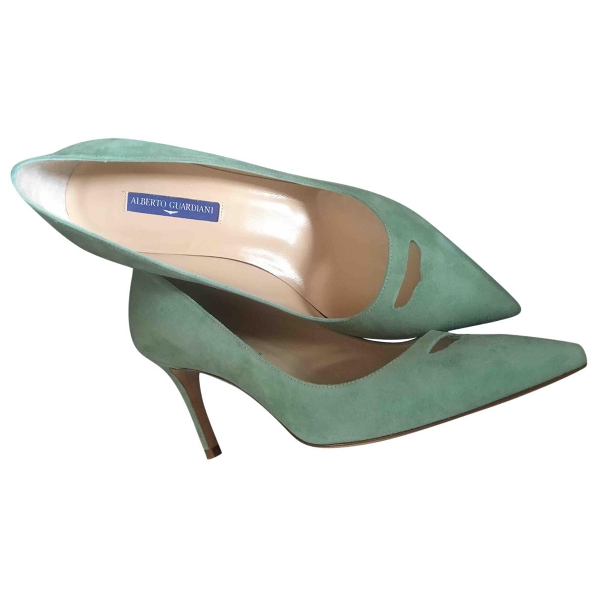 Alberto Guardiani - Escarpins   pour femme en suede - turquoise