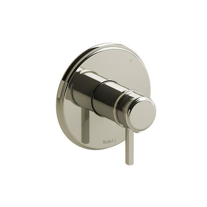 Momenti TMMRD45LPN 3-Way Thermostatic/Pressure Balance Coaxial Valve Trim with Lever Handles  in Polished