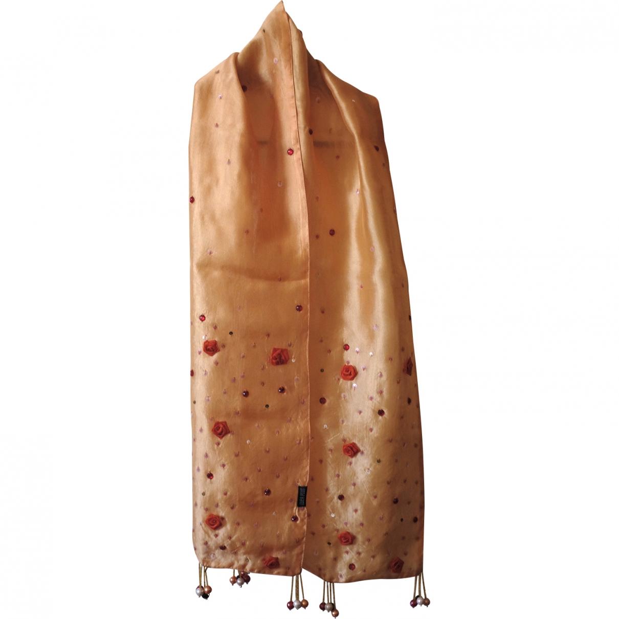 - Foulard   pour femme en soie - orange