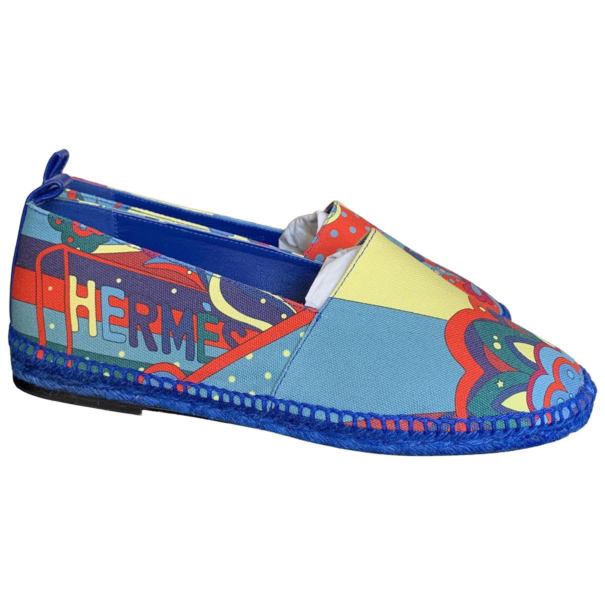 Hermes \N Espadrilles in  Blau Leinen