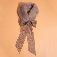 Lace-up Decor Tippet Scarf