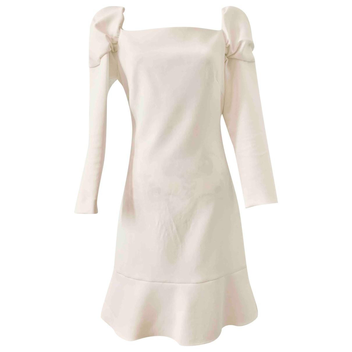 Osman London \N Kleid in  Weiss Polyester