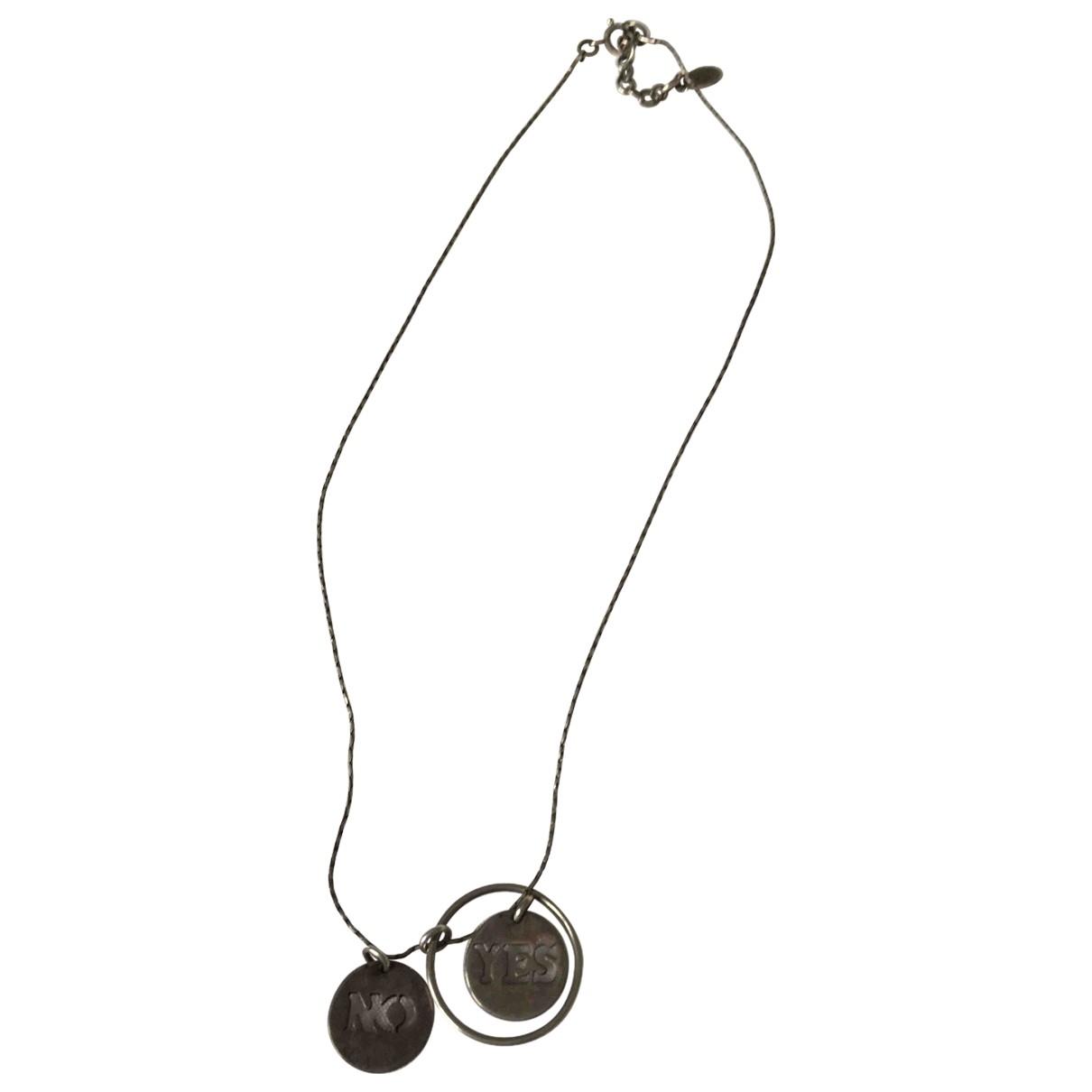 Gas - Collier   pour femme en metal - argente