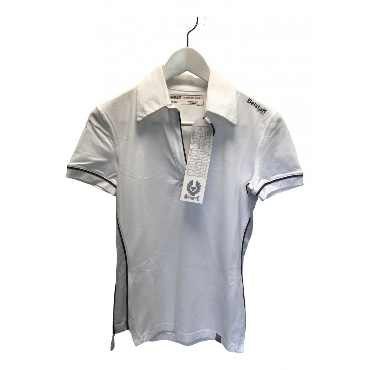 Belstaff - Top   pour femme en coton - blanc