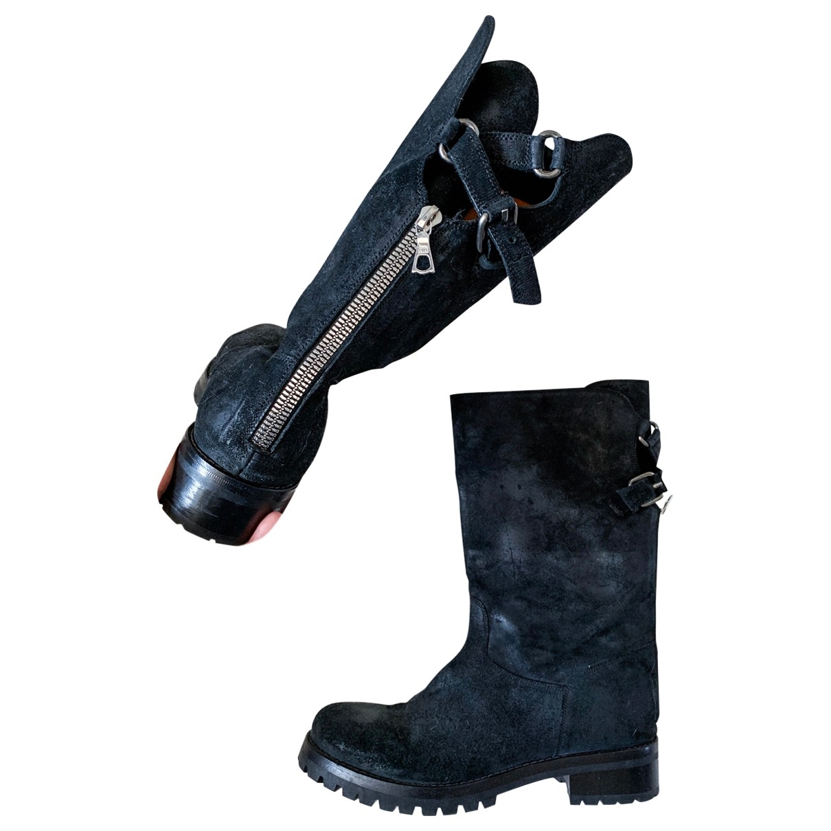 Sartore - Bottes   pour femme en cuir - noir