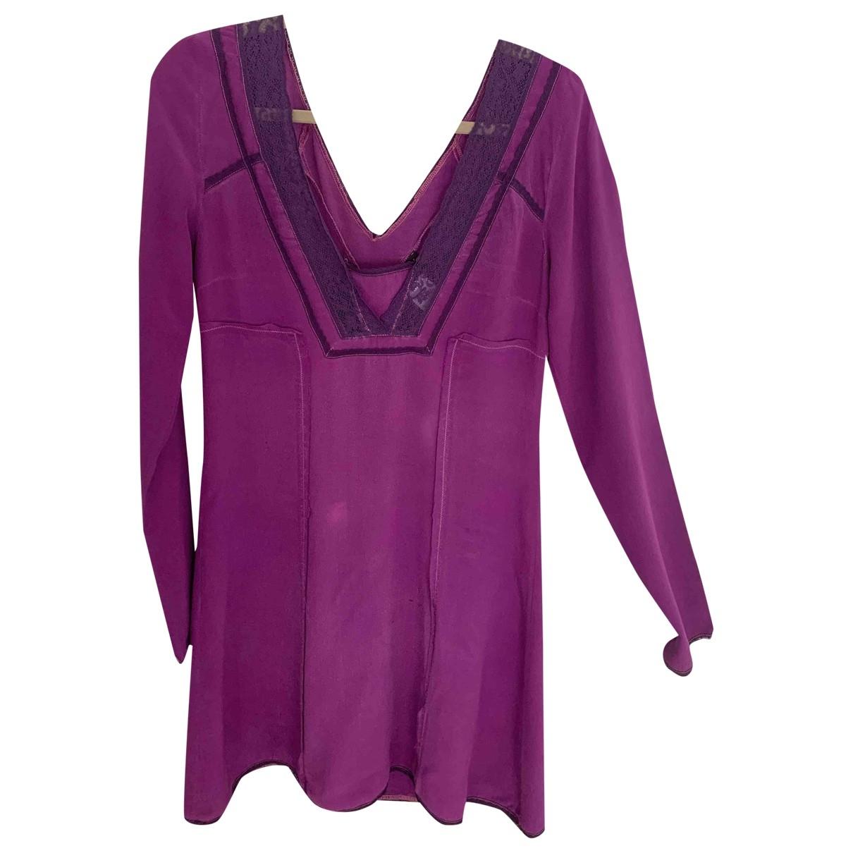 Patrizia Pepe \N Purple Silk dress for Women 42 IT