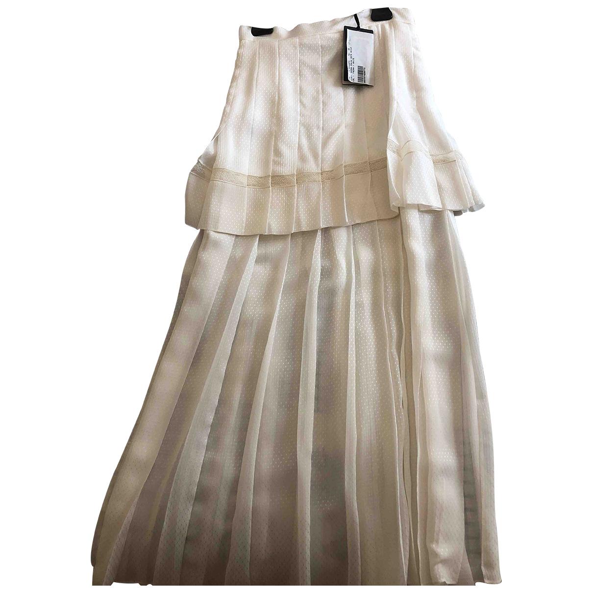 Fendi \N White Silk skirt for Women 40 FR