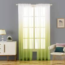1 Stueck transparenter Vorhang mit Farbverlauf