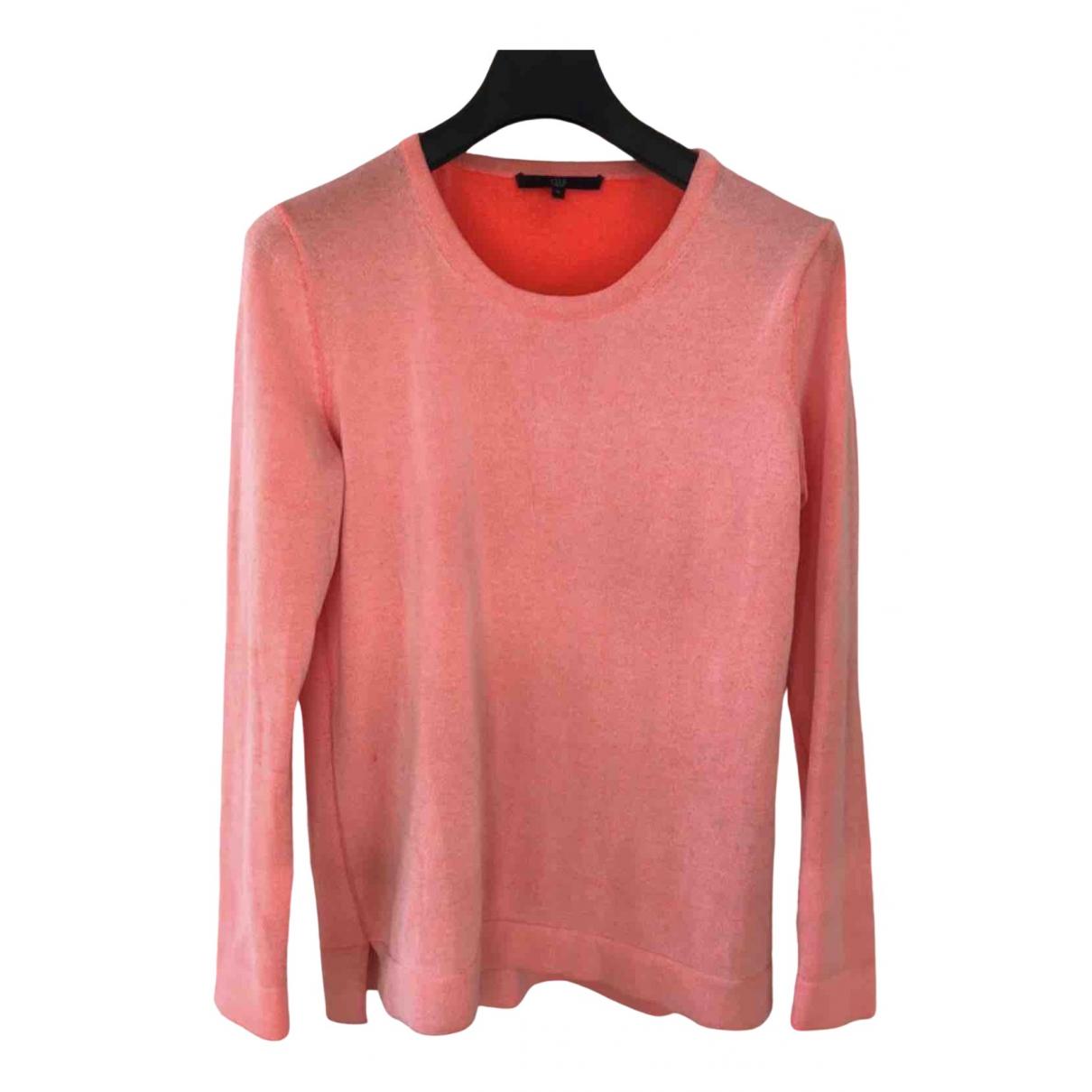 Tibi - Pull   pour femme en coton - orange