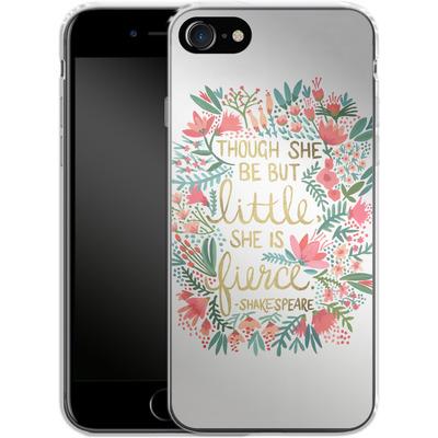 Apple iPhone 8 Silikon Handyhuelle - Little But Fierce White von Cat Coquillette