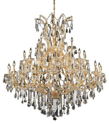 2801G52G/RC 2801 Maria Theresa Collection Large Hanging Fixture D52in H54in Lt: 40+1 Gold Finish (Royal Cut