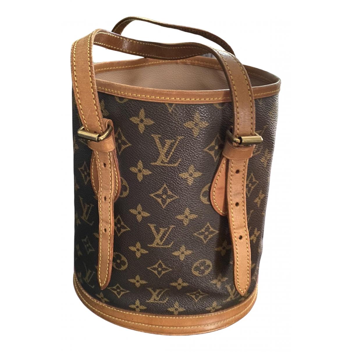 Louis Vuitton Bucket  Handtasche in  Beige Leinen
