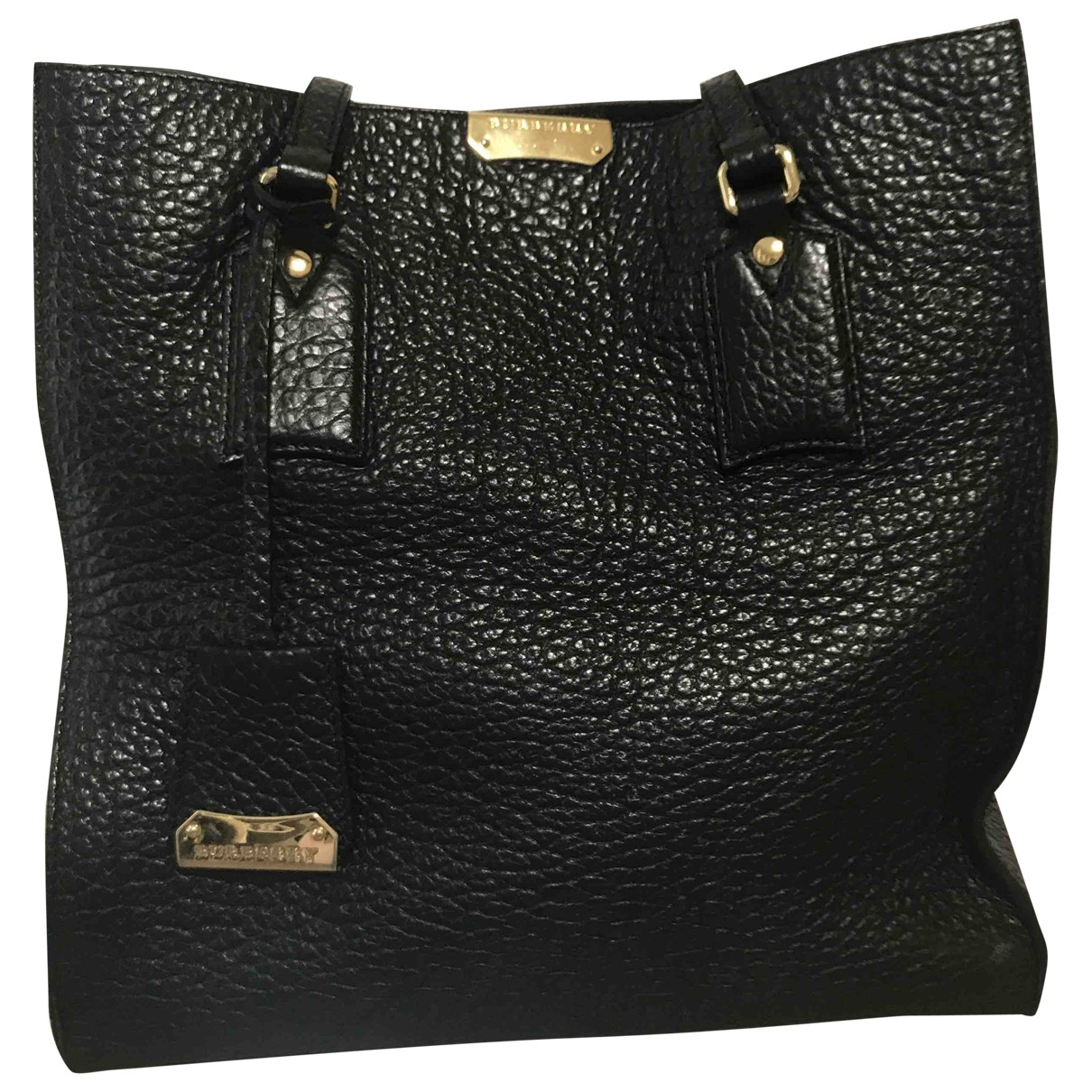 Burberry Woodbury Black Leather handbag for Women \N