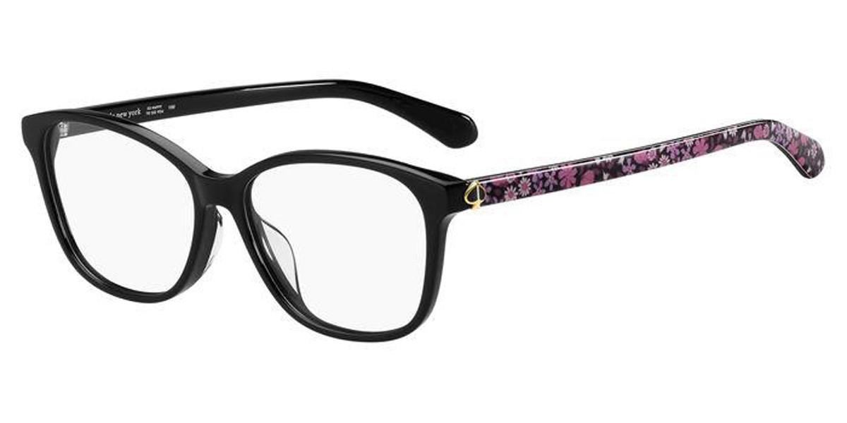 Kate Spade LONDYN/F Asian Fit 807 Women's Glasses Black Size 54 - Free Lenses - HSA/FSA Insurance - Blue Light Block Available