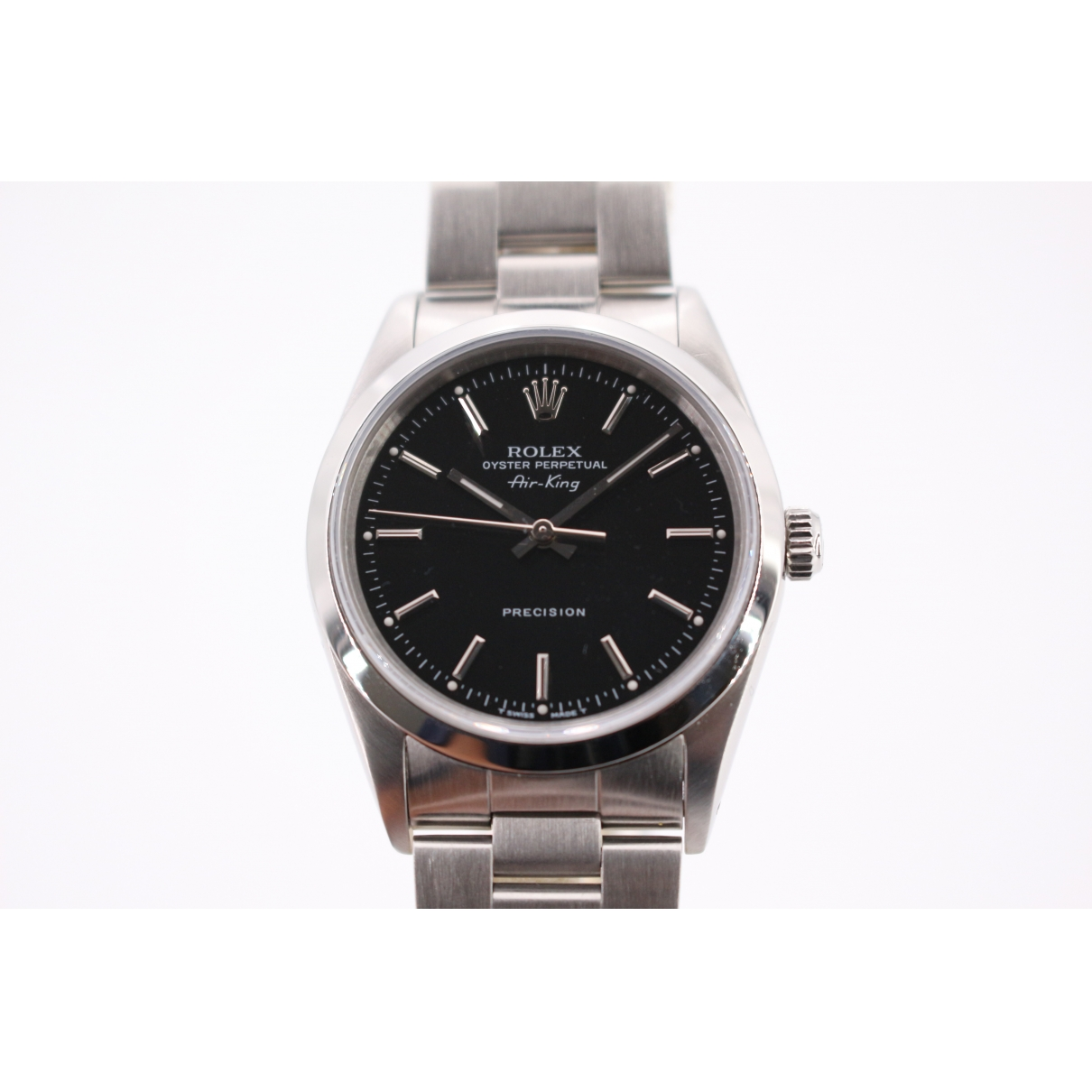 Rolex Air King Uhr in  Schwarz Stahl